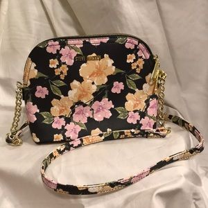 Steve Madden Black Floral Crossbody Bag